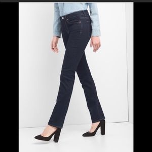 Gap Mid Rise Stretch Classic Straight jeans 26
